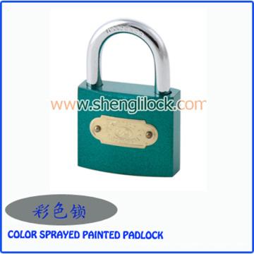 Cadeado de ferro pintada cor atacado fábrica de ferro