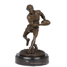 Спортивный Латунь Статуя Регбист Декор Бронзовая Скульптура Т-304