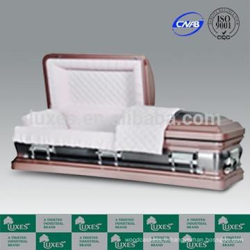 LUXES américains cercueils métalliques avec 18ga cercueils en gros