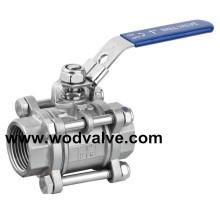 3PC pression réduisant la vanne à boisseau sphérique