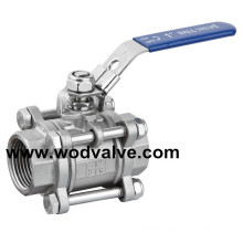 3PC Pressure Reducing Flodting Ball Valve