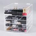 Organisateur de rangement de maquillage en acrylique avec tiroirs