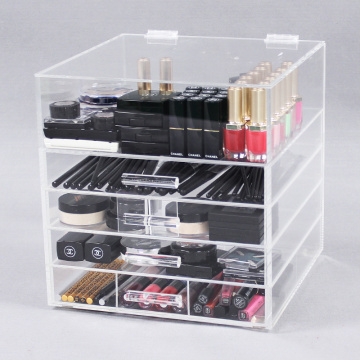 Acryl make-up opslag organizer met lades