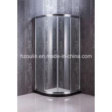Duschkabine mit großem Aluminium