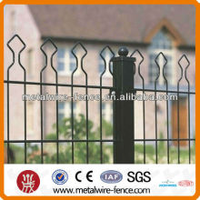 Welded double wire arch top fence