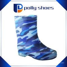 Хорошее качество MID каблук женщин резиновые сапоги дождь