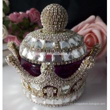 Botella de perfume de cristal Spark crown para centros de mesa de boda