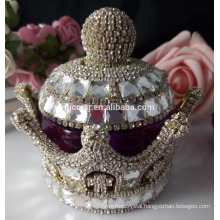 Spark crown crystal perfume bottle for wedding centerpieces