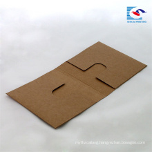 custom brown paper media cases CD packaging box