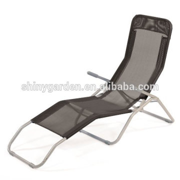 Outdoor Garden Furniture Rocker Sun Lounger Cream Sun Chair Sunchair Recliner Reclining Folding Chair