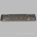 Insignia de nombre rectángulo barato con placa de acero