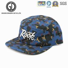 Sombrero de camuflaje de adultos de 5 paneles con capucha Snapback Strapback con logo