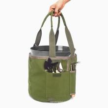 Garden Tool Bag Multifunctional Hand Bag Garden Tool Bucket Bag Waterproof Canvas Garden Tool Bag