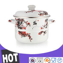 New product 2016 enamel food steamer for nose inhalation