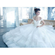 Sexy Off Shouler Organza Princess Wedding Dresses Ball Gown (WDJL-1029)