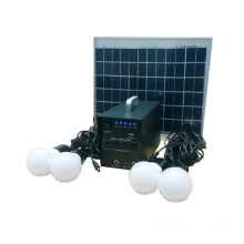 12V dc 10watts solar lighting system with mobile charger