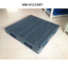 Tipo de plástico de inyección barato tipo Hige calidad paleta de plástico marrón 1200 * 1200 * 150 mm