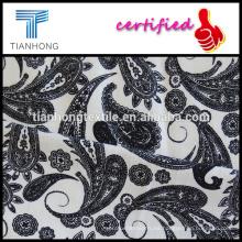 estilo de Phoenix impresa en tejido de algodón blanco spandex elastano fondo buen estiramiento para la ropa de las mujeres