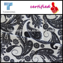 phoenix style printed on cotton spandex elastane white background fabric with good stretch for women's clothing