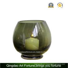 De vidrio redondo para el titular de la vela Fabricante