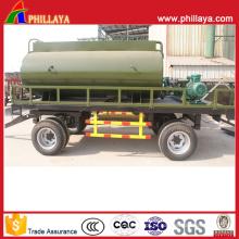 Reboque do tanque de água de dois eixos de fazenda