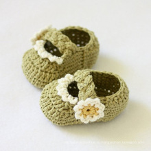 Baby Boy Girl Вязание крючком Сандалии Обувь Шерстяные Prewalker Ручная работа