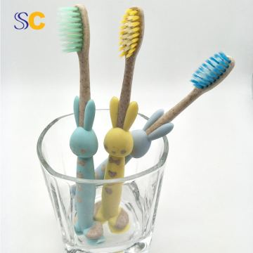 Child Toothbrush Kid Toothbrush Degradable Straw Toothbrush