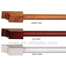 H series 28mm wooden drapery rods aluminium
