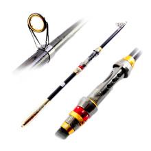 TSR065 -1 canne à pêche télescopique en carbone tige 2.1m 2.4m 2.7m ALU moulinet