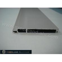 Slat de forma plana para porta de obturador de rolo em perfil de alumínio