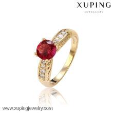 13050-Xuping atacado Alloy jóias anéis romântico anel de casamento de ouro
