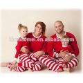 Красный и белый цвет Рождество пижамы оптовая Рождество пижамы в детский размер и взрослый Размер