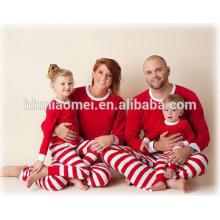 Rote und weiße Farbe Weihnachten Pyjamas Großhandel Weihnachten Pyjamas in Kindergröße und Erwachsenengröße