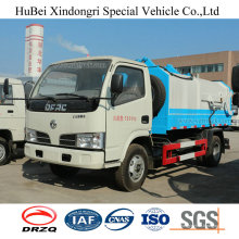 5cbm Dongfeng Euro 4 Camion Compacteur à Ordures Semi-Automatisé à Chargement Latéral