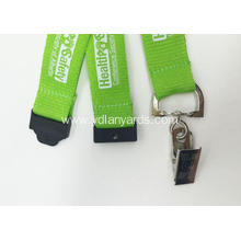 Silk Screen Lanyards Green Color For Events