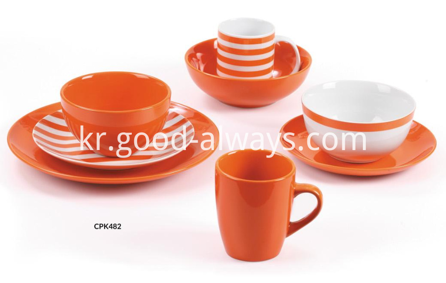 Orange Dinnerware