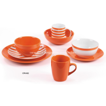 Ornage color dinner set Porcelain and Stoneware