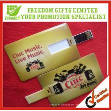 Подгонянный USB Кредитной Карточки Подарка Пластичное