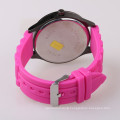 lovely pink silicone hand watch for girl