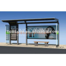 Moderne Bushaltestelle