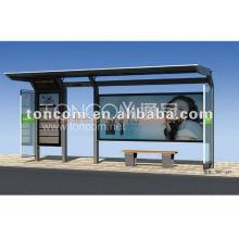 modern bus shelter