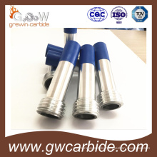 Tungsten Carbide Nozzle with Blue Rubber Sleeve and Aluminium Jacket