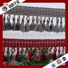 Franja de borla de diseño simple hecha a mano textiles hangzhou taojin