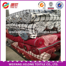 оптовая акций 2015 в Китае самые популярные вэйфан Шаньдун 100% рубашечный хлопок плед фланель ткани
