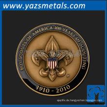 fertigen Sie Metallmedaillen besonders an, kundenspezifische Qualitätsjahre des Pfadfindermedaillens