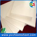 Feuille de PVC de mousse de 1.22m (blanc pur et noir ou autre coloré) usine