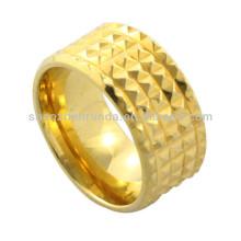 Ouro barato da jóia da forma chapeado anel de giro do aço inoxidável