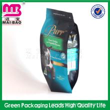 Multi-color & style pet food verpackung laminiertes material 4 seite versiegelung plastiktüte