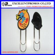 Personalizado 3D Soft PVC borracha Clip Clip Bookmark (EP-C57291)