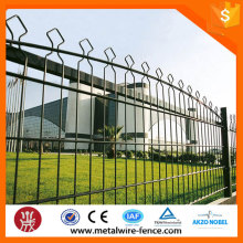 Double Horizontal Wire Welded Arched Mesh Fence
